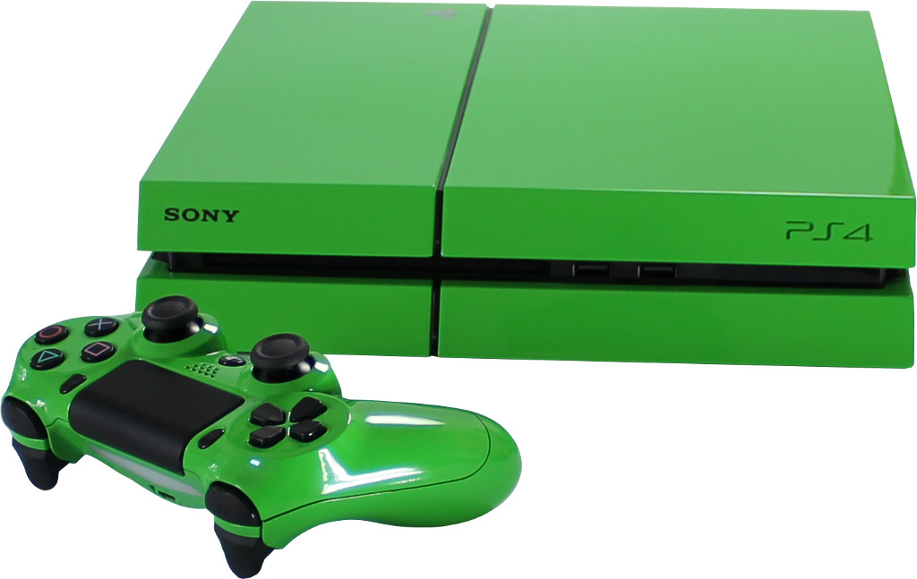 sony playstation 4 ps4 toxic green. Black Bedroom Furniture Sets. Home Design Ideas